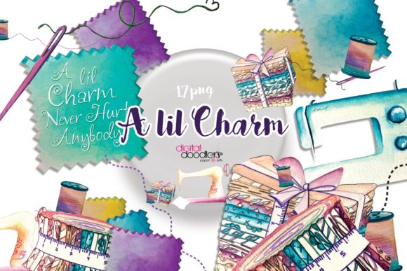 Print on Demand: A Lil Charm Graphic Set Graphic Illustrations By Digital Doodlers