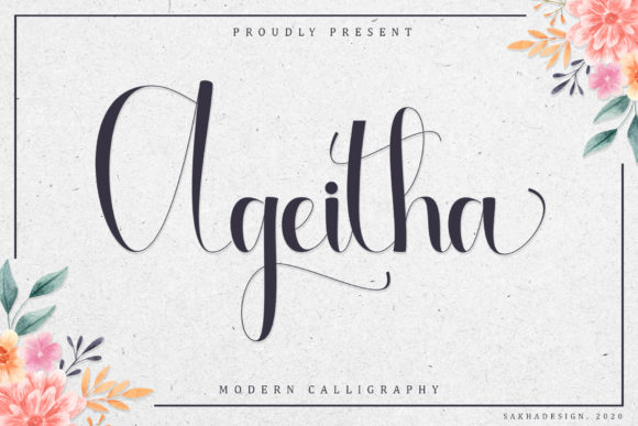 Print on Demand: Ageitha Script & Handwritten Font By Sakha Design