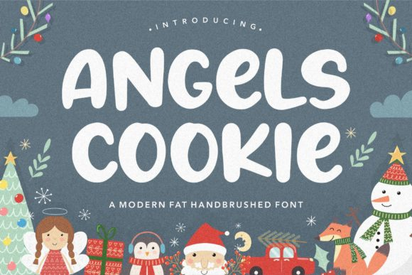 Print on Demand: Angels Cookie Script & Handwritten Font By Balpirick