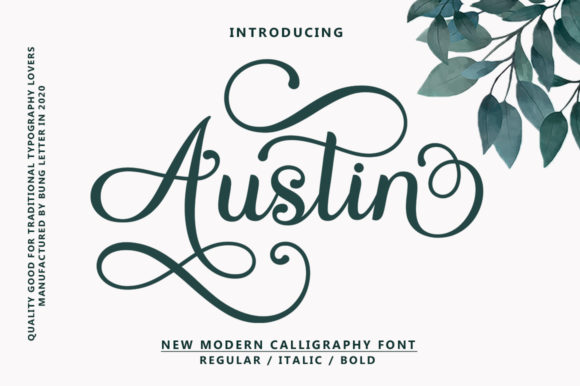 Print on Demand: Austin Script & Handwritten Font By bungletter