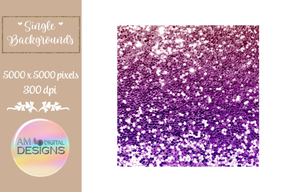Beautiful Pink and Purple Chunky Glitter Graphic Backgrounds By AM Digital Designs