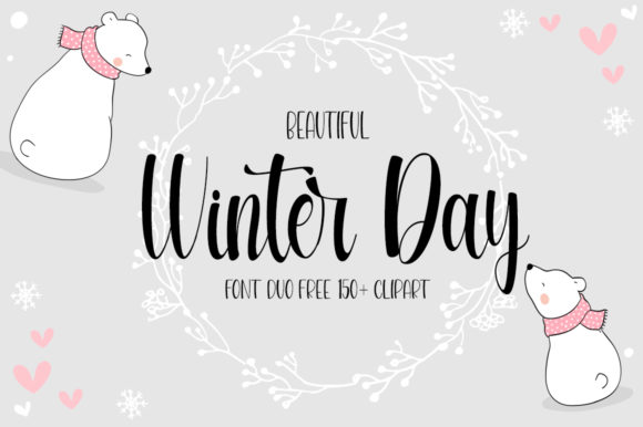 Print on Demand: Beautiful Winter Day Script & Handwritten Font By Fillo Graphic