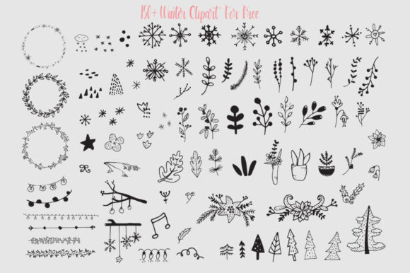 Beautiful Winter Day Font Design Item