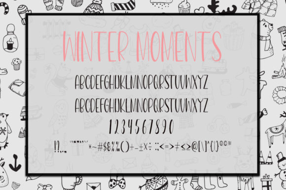 Beautiful Winter Day Font Downloadable Digital File