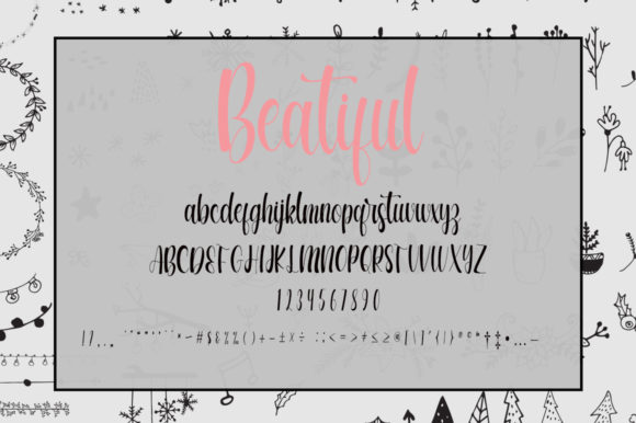 Beautiful Winter Day Font Popular Design