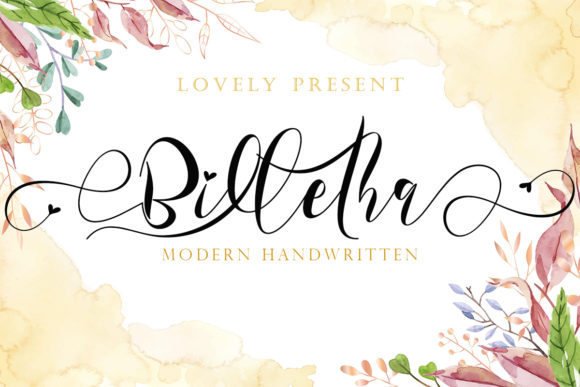 Print on Demand: Billetha Script & Handwritten Font By yogaletter6