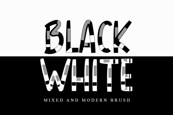 Print on Demand: Black White Display Font By Inermedia STUDIO