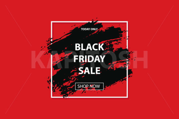 Black Friday Sale Banner Grunge Brush Graphic Illustrations By Kapitosh