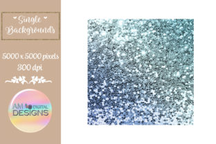 Blue Ombre Gradient Chunky Glitter Graphic Backgrounds By AM Digital Designs