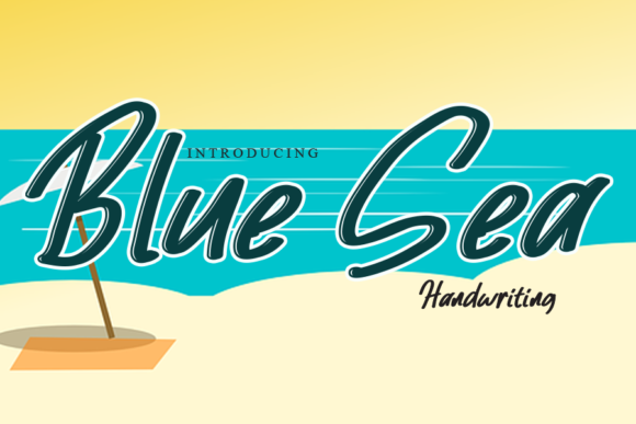 Print on Demand: Blue Sea Script & Handwritten Font By gunawanletter