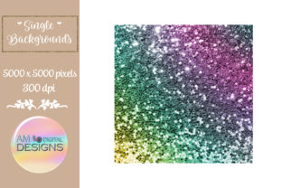 Bright Colored Gradient Chunky Glitter Graphic Backgrounds By AM Digital Designs