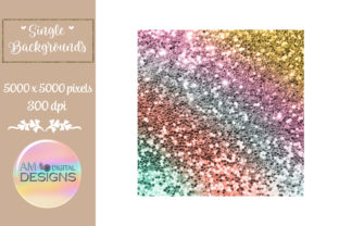 Bright Rainbow Gradient Chunky Glitter Graphic Backgrounds By AM Digital Designs