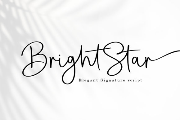 Print on Demand: Bright Star Script & Handwritten Font By Sulthan Studio