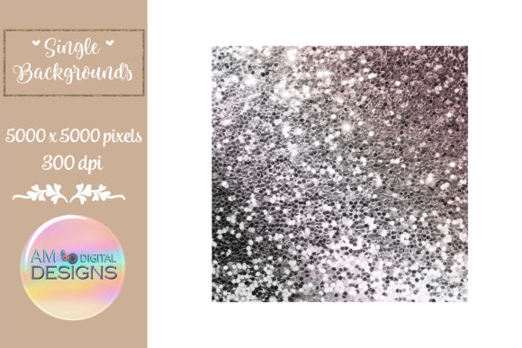 Brown Ombre Gradient Chunky Glitter Graphic Backgrounds By AM Digital Designs