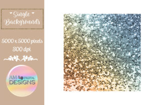 Brown and Blue Gradient Chunky Glitter Graphic Backgrounds By AM Digital Designs