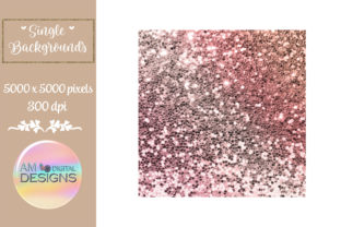 Brown and Pink Gradient Chunky Glitter Graphic Backgrounds By AM Digital Designs