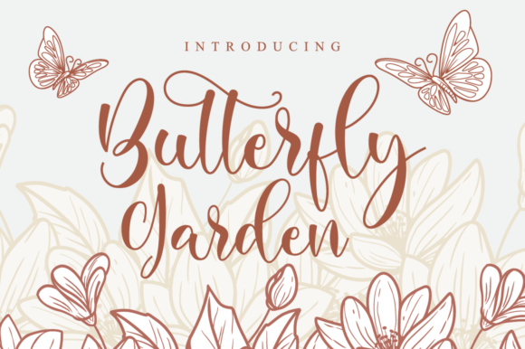 Print on Demand: Butterfly Garden Script & Handwritten Font By NissaStudio