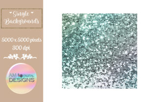 Cactus Lovers Gradient Chunky Glitter Graphic Backgrounds By AM Digital Designs