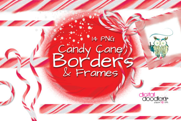 Print on Demand: Candy Cane Lane Graphic Borders Graphic Illustrations By Digital Doodlers