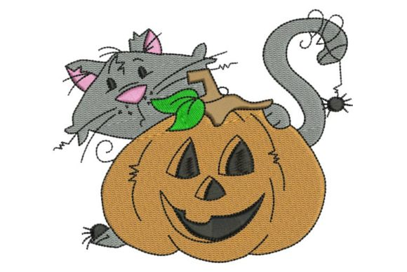 Cat Peeker Halloween Embroidery Design By BabyNucci Embroidery Designs