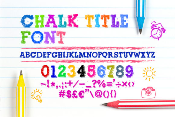 Print on Demand: Chalk Title Script & Handwritten Font By OWPictures