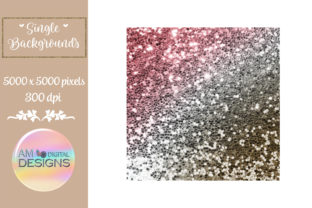 Chocolate Cherry Gradient Chunky Glitter Graphic Backgrounds By AM Digital Designs