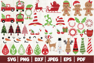 Christmas Bundle SVG - 38 Clip Arts Graphic Crafts By SeventhHeaven Studios