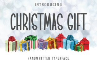 Print on Demand: Christmas Gift Script & Handwritten Font By Farz Studio
