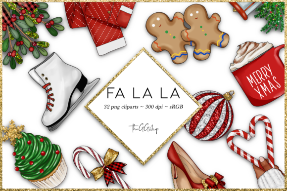 Christmas Png Clipart Set Graphic