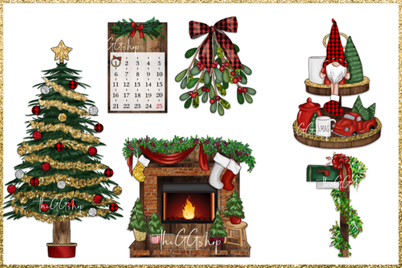 Christmas Png Clipart Set Graphic Preview