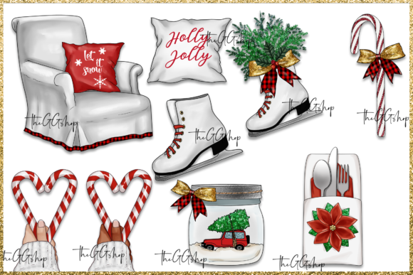 Christmas Png Clipart Set Graphic Image