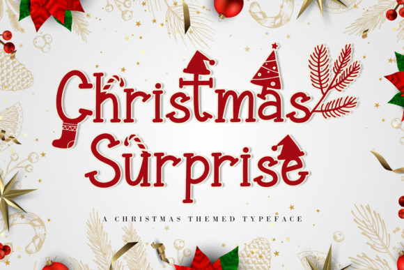 Print on Demand: Christmas Surprise Display Font By AEN Creative Studio
