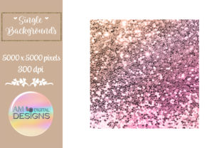 Coastal Sunset Gradient Chunky Glitter Graphic Backgrounds By AM Digital Designs