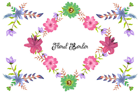 Print on Demand: Colorful Decorative Floral Object Craft Graphic Objects By anomali.bisu