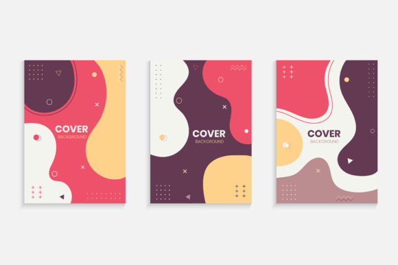 Colorful Memphis Cover Design Background Graphic Backgrounds By medelwardi