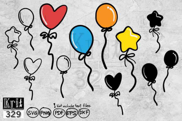 Cute Balloon Party Decoration Svg Graphic Crafts By Krit-Studio329