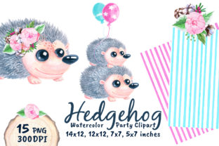 Cute Hedgehog Baby Shower Watercolor Png Graphic Objects By artpanda2018