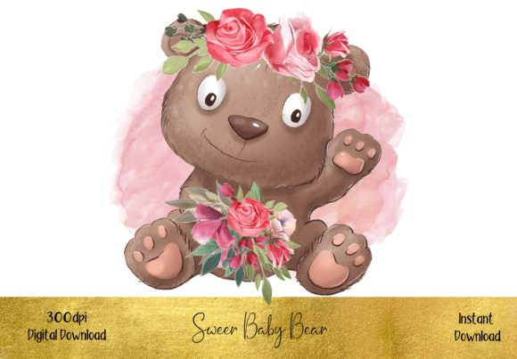 Cute Little Baby Bear Graphic Illustrations By STBB