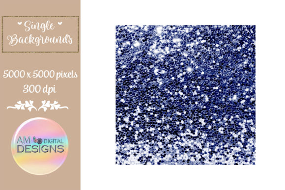 Deep Dark Sky Gradient Chunky Glitter Graphic Backgrounds By AM Digital Designs