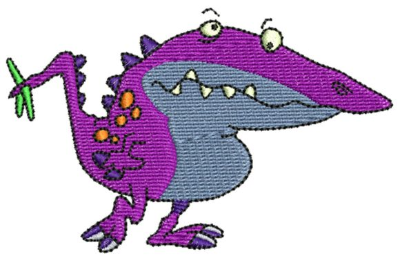 Dino Monster Halloween Embroidery Design By BabyNucci Embroidery Designs