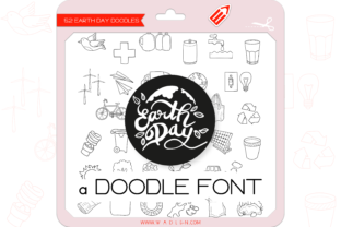 Print on Demand: Earth Day Dingbats Font By WADLEN
