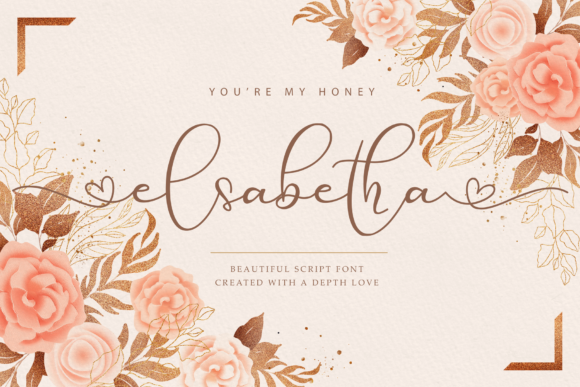 Print on Demand: Elsabetha Script & Handwritten Font By noftanti