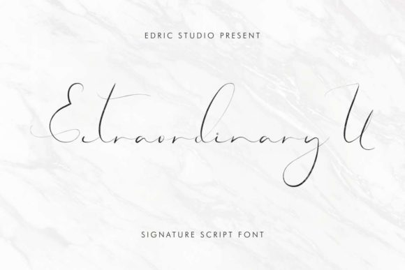 Print on Demand: Extraordinary U Manuscrita Fuente Por EdricStudio