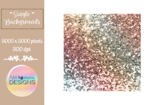 Fall Colors Gradient Chunky Glitter Graphic Backgrounds By AM Digital Designs