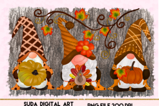 Print on Demand: Fall Gnomes Design Sublimation Graphic Illustrations By Suda Digital Art