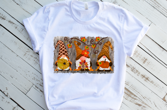 Fall Gnomes Design Sublimation Graphic Download