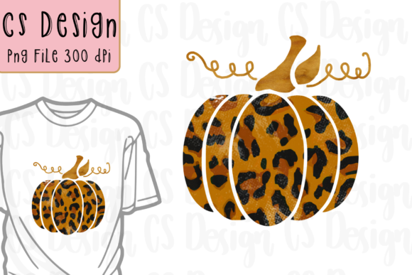 Print on Demand: Fall Pumpkin Leopard Sublimation Plaid Graphic Crafts By CSDesign