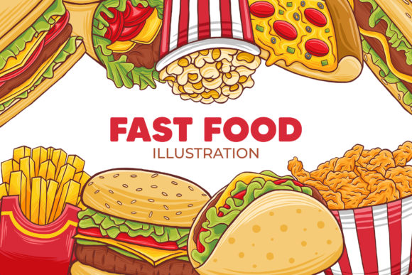 Fast Food Illustration Graphic Illustrations By medzcreative