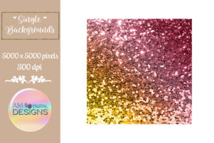 Fiery Sunrise Gradient Chunky Glitter Graphic Backgrounds By AM Digital Designs