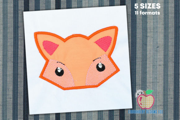 Fox Monster Applique Pattern Wild Animals Embroidery Design By embroiderydesigns101